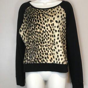Leopard Faux Fur Sweatshirt